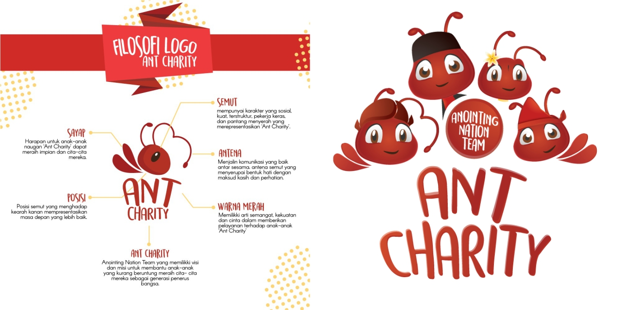 Ant Charity's new logo philosophy